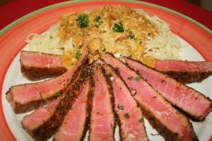 Seared Tuna & Pasta